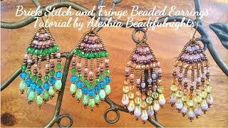 Brick Stitch and Fringe Beaded Earrings Tutorial