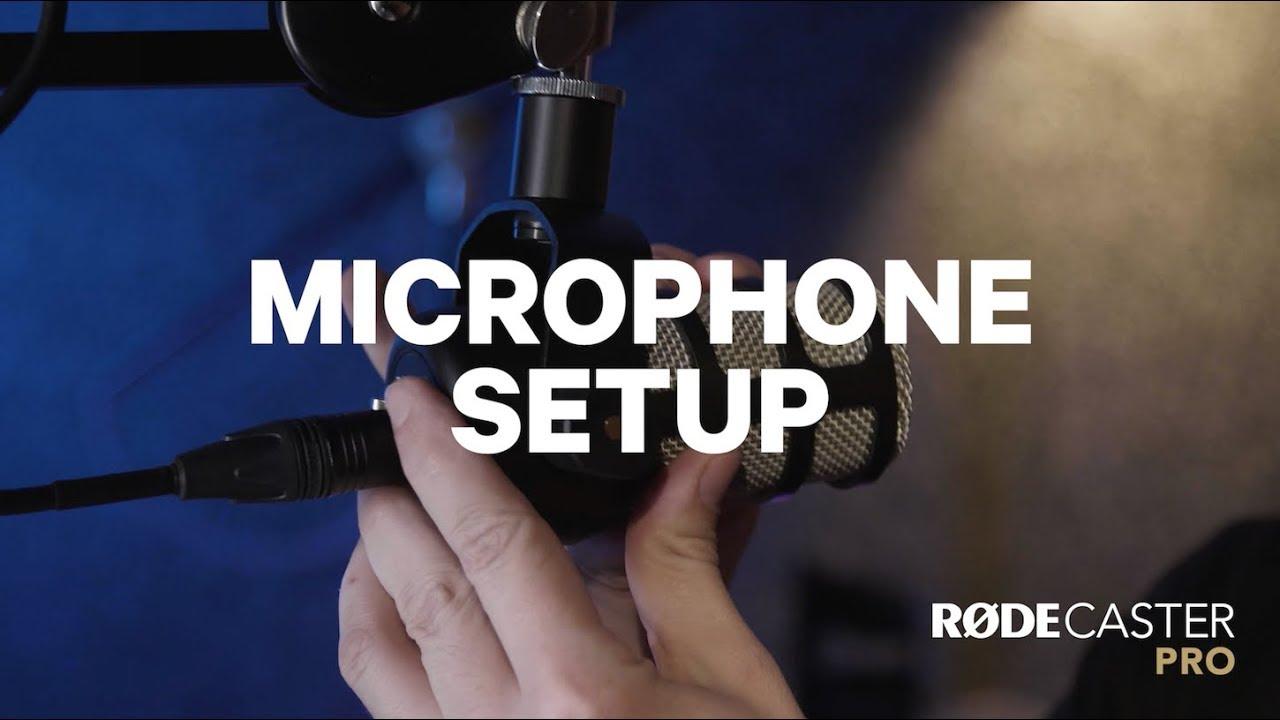Nastavení mikrofonu
