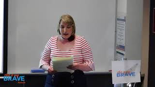 TIMBA story teller Sharn Peskett shares her story in Perth