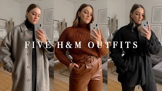 H&M HAUL + FIVE OUTFITS   HIGH STREET CAPSULE WARDROBE   I Covet Thee