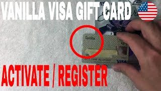 ✅  How To Activate And Register Vanilla Visa Gift Card 🔴