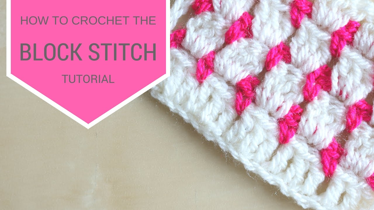 CROCHET: How to crochet the block stitch | Bella Coco