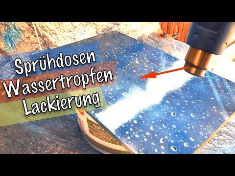 Wassertropfen mit Sprühdose lackieren 🤪 3D Eis-Effekt-Lackierung