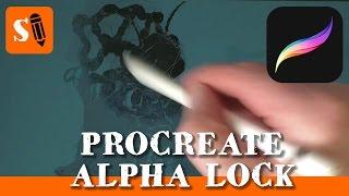 Procreate iPad Pro How to Use Alpha Lock to Paint Shadows