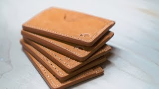 Making A Small Batch Of No.54 Minimalist Leather Card Holder Wallets