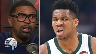Jalen Rose reacts to Giannis dunking on Julius Randle, Knicks losing by 44 points | Jalen & Jacoby