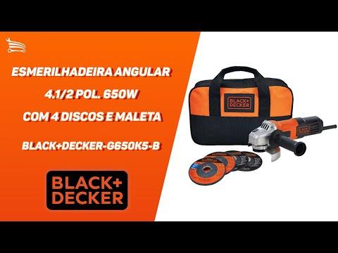 Esmerilhadeira Angular 4.1/2 Pol. 650W  com 4 Discos e Maleta - Video