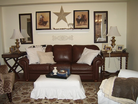 Home Decor Ideas with Brown Couches