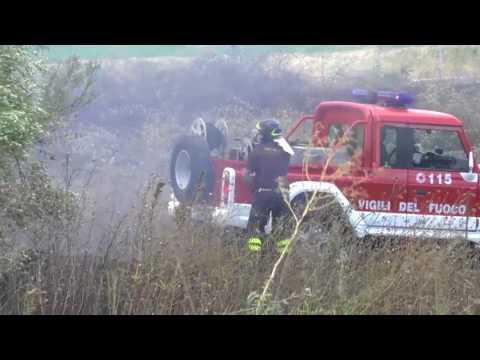 Incendio in Contrada Casalena