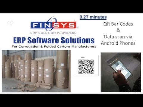 Bar Code Reels (9 min) Finsys ERP Corrugation code:Pkg004
