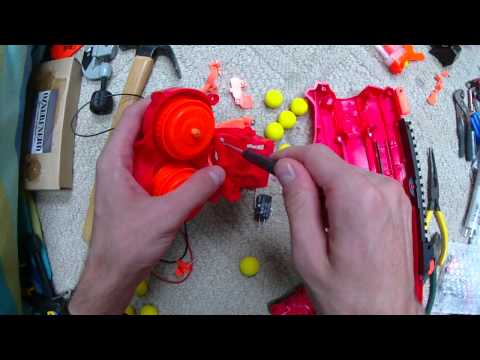 Guy Upgrades Nerf's New 112 KPH Rival Zeus Blaster To Be Fully Automatic