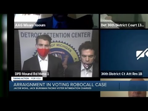 Conservative activists accused of voter intimidation appear in Detroit courtroom