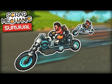 I Built Motorcycles and Started a Biker Club! (Scrap Mechanic Survival Ep.14)