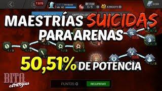 Bito Estrategias: Aumento del 50,51% de Potencia | Maestrías Suicidas para Arenas - MCOC