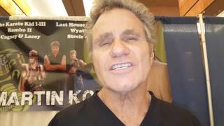 Karate kid actor Martin Kove chats with us at ComiConn 2017!