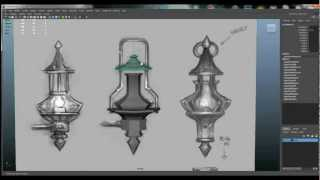 preview picture of video 'Maya 3d - WoW Worgen Lamp - Part 01 - Model'
