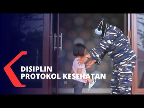 prajurit kowal cegah corona dengan disiplin protokol kesehatan