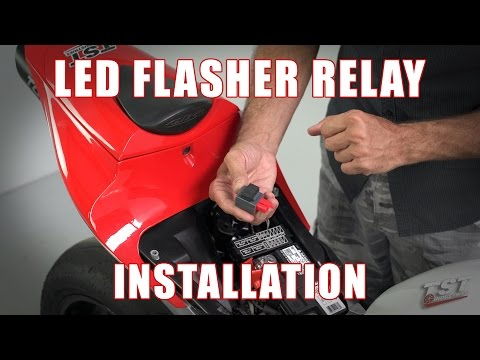 How to install LED Flasher Relay on a 07-12 Honda CBR600RR by TST Industries