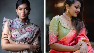 Fresh Saree Blouse Designs To Try This Year || New Model Blouse Neck Ideas
