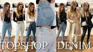 STYLING THE BEST TOPSHOP JEANS | TOPSHOP DENIM SPRING HAUL | 10 OUTFITS AD
