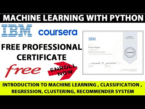 IBM Free Certificate | Python with Machine Learning Free Course ...