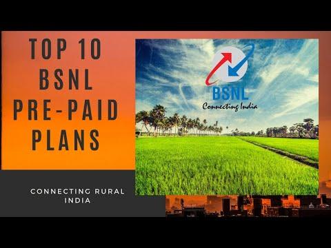 BSNL: Top 10 prepaid plans
