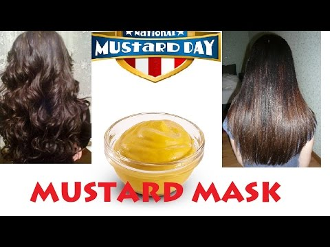 Mustasa mask lightens buhok