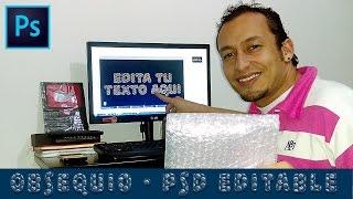 PSD Editable Texto con Efecto Burbujas de Plástico en 5 Segundos