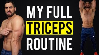 My Complete Triceps Gym Workout Routine | Build BIGGER Arms by BarbarianBody