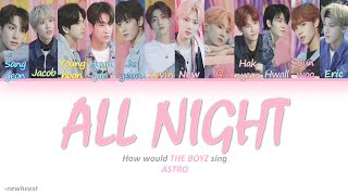 How would THE BOYZ sing ALL NIGHT by ASTRO