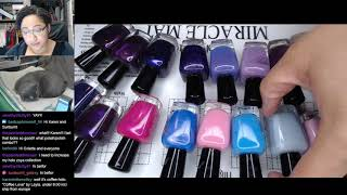 Nail Polish Testing | Watercolor Flower Smooshy Marble Extended Nail Art Tutorial [Streamed 2/6/19]