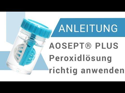 Wie verwendet man die Peroxidlösung AOSEPT® PLUS mit HydraGlyde®