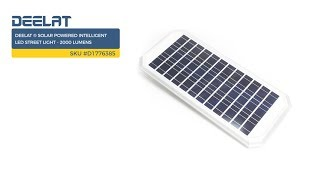 DEELAT ® Solar Powered Intelligent LED Street Light - 2000 Lumens     SKU #D1776385