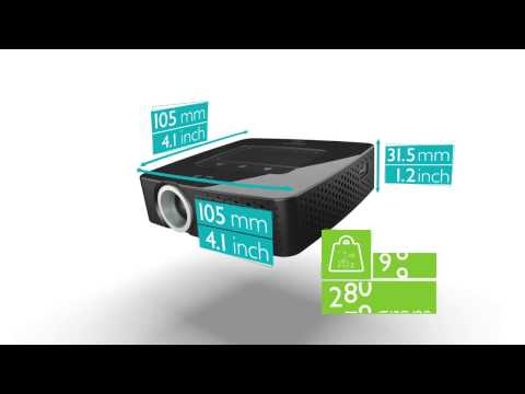Philips Picopix PPX3614 LED Multimedia Pocket Projector with Wi-Fi