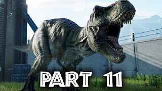Jurassic World Evolution Gameplay Walkthrough Part 11 - T-REX IS BORN