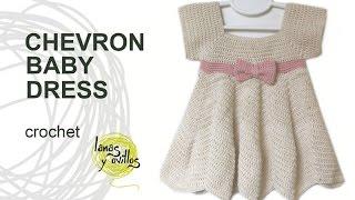 Tutorial Crochet Chevron Baby Dress In English