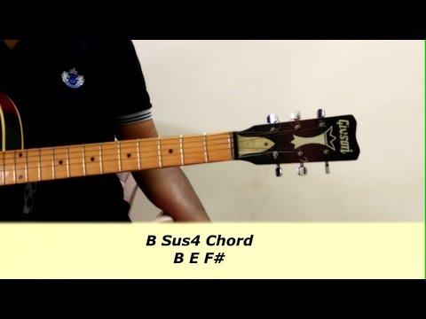 B Sus2 And Sus4 Guitar Chord Guitar Tutorial L 133