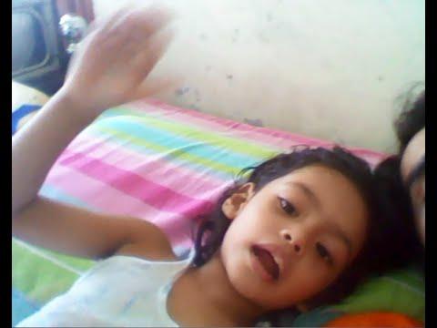 cute little girl telling story part 1