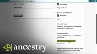 How to Download Your Tree from Ancestry.com