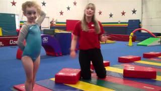 5/6 Beginner Gymnastics Class Using the Original Block at Patti's All-American