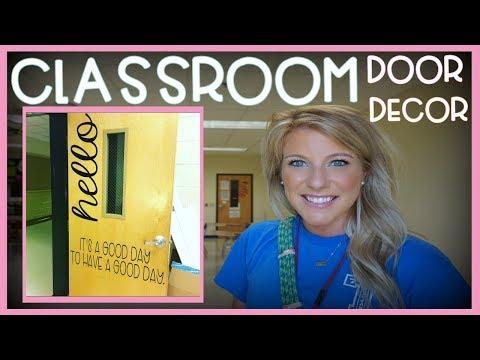 Classroom Door Decor   Teacher Vlog