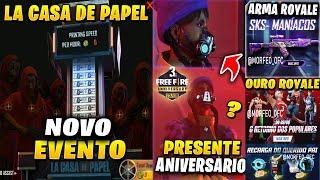 EVENTO DA SERIE LA CASA DE PAPEL, PREMIAÇÃO DO 3º ANIVERSÁRIO DO FREE FIRE, DUNK MASTER POR OURO!