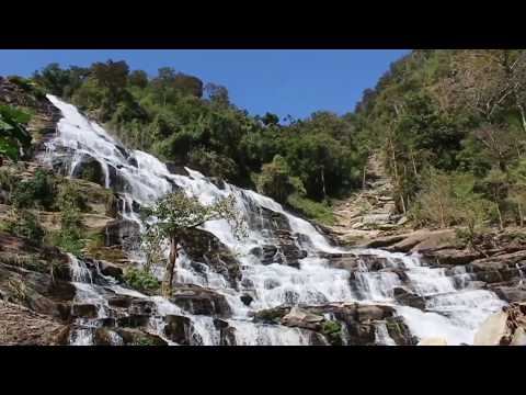 Waterfall Sound/ 1.5 hours of white noise, Meditation and Relaxation/ водопад и птицы