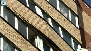 Взрыв гироскутера привёл к угрозе обрушения балкона многоэтажки
