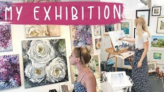 MY EXHIBITION | Floral Painting in Studio Gallery