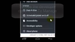 How to enable or disable the Developer Options in Android Mobile?