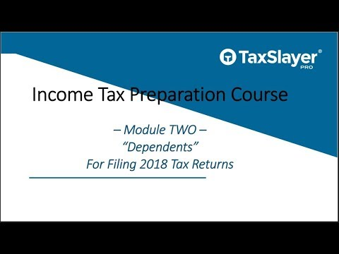 Filing Dependents - TaxSlayer Pro Income Tax Preparation Course ...