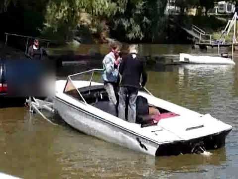 Boot slippen von Vollidioten