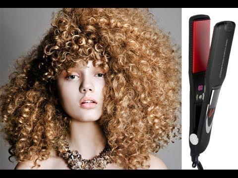 """Düzleştirici İle Kıvırcık Saç Yapma """" Curly Hair with Straighteners"""""""