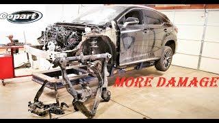 Rebuilding 2017 Lexus RX350 Fsport from Copart part 3